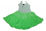 Šaty s tylovou sukní - bílo-zelené