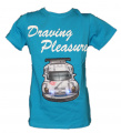 Blikací tričko s autem - modré