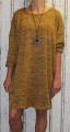 Dámské volné šaty s přívěskem - pískové