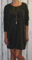 Dámské volné šaty s přívěskem 2 - khaki
