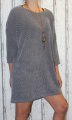 Dámské volné šaty s přívěskem 2 - šedé