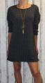 Dámské volné šaty s přívěskem 2 - černé