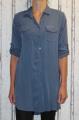 Dámské košilové šaty, dlouhá košile - modrá