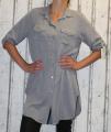 Dámské košilové šaty, dlouhá košile - šedá
