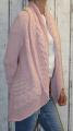 Dámský pletený kardigan - růžový