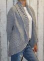 Dámský pletený kardigan - šedý
