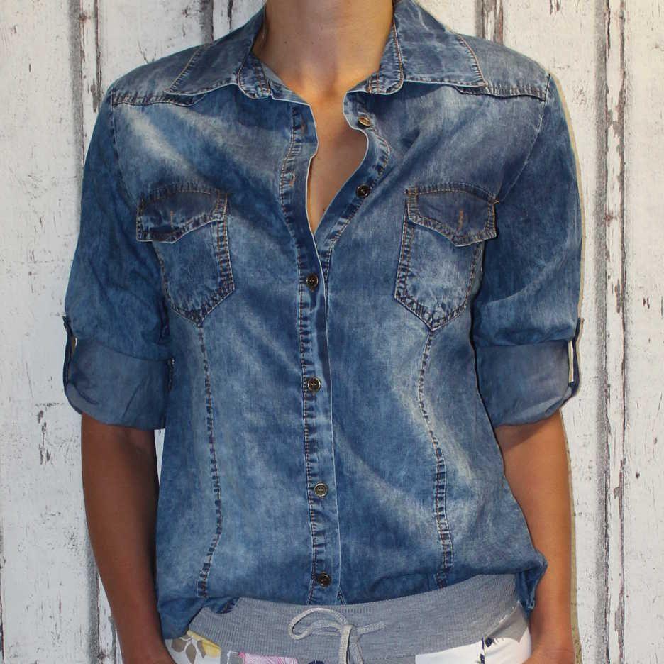 Dámské džínová košile Italy Moda