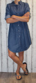 Dámské džínové šaty, dámská džínová dlouhá košile Turecko