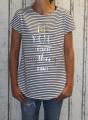Dámské pruhované triko kr.rukáv - užší pruhy