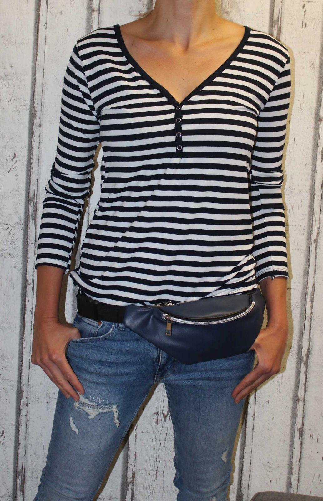 Dámské pruhované tričko volný střih dámská tunika námořnické tričko dámské triko pruhy Italy Moda