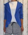 Dámský bavlněný kardigan - modrý