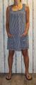 Dámské letní bavlněné šaty na ramínka - volný střih - pruhy