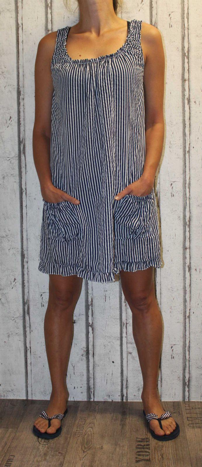 Dámské šaty, plážové šaty, pohodlné šaty, pruhované šaty Italy Moda