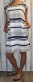 Dámské bavlněné šaty - volný střih - pruhy