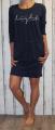 Dámské bavlněné šaty krátký rukáv - tm.modré