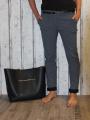 Dámské elegantní kalhoty - černo šedé