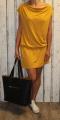 Dámské sportovní šaty spadlá ramena - žluté