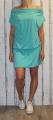 Dámské sportovní šaty spadlá ramena - zelené