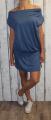 Dámské sportovní šaty spadlá ramena - modré