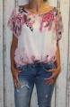 Dámská halenka, tunika, košile - růžovo-bílá
