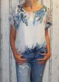Dámská halenka, tunika, košile - bílo-modrá