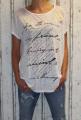 Dámské triko/tunika - volný střih - bílé
