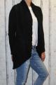 Dámský pletený kardigan - černý