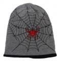 Dětská bavlněná čepice vyteplená fleesem- Spider - šedá