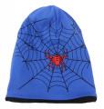 Dětská bavlněná čepice vyteplená fleesem- Spider - sv.modrá