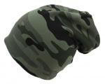 Dětská maskáčová čepice vyteplená fleesem- khaki