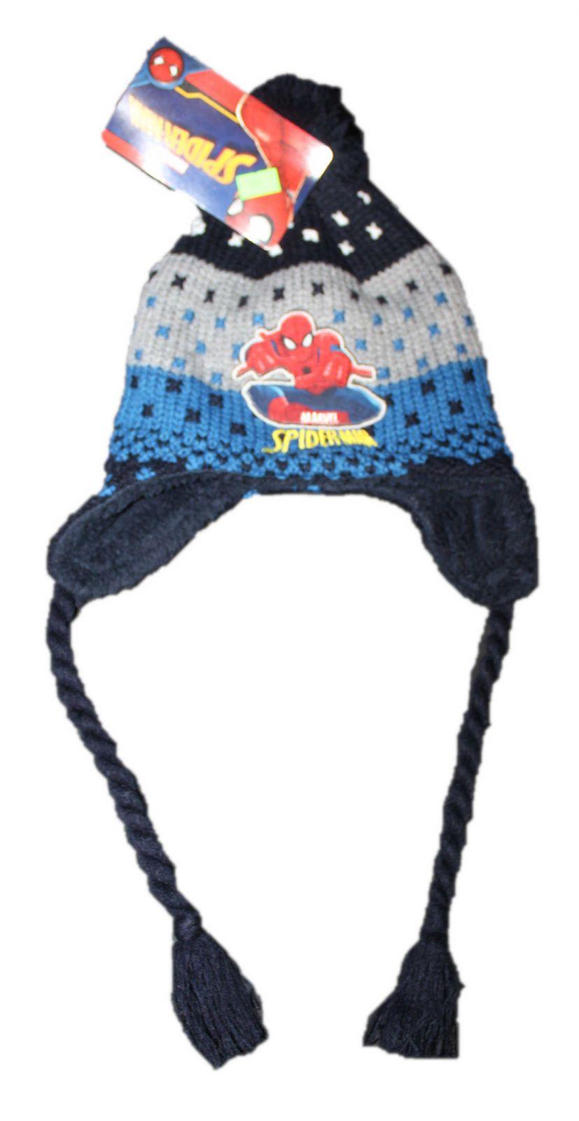 dětská čepice Spiderman, ušanka spiderman chlapecká zimní čepice, chlapecká ušanka spiderman Marvel