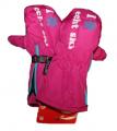 Dětské zimní rukavice, lyžařské rukavice - palčáky - růžové - rozepínací
