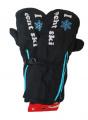 Dětské zimní rukavice, lyžařské rukavice - palčáky - černé- rozepínací