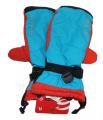 Dětské zimní rukavice, lyžařské rukavice - palčáky VELKÉ - modro-oranžovo-černé