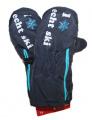 Dětské zimní rukavice, lyžařské rukavice - palčáky - tm.modré - rozepínací