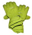 Dětské zimní, lyžařské rukavice - prstové - zelené