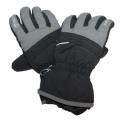 Dětské zimní, lyžařské rukavice - prstové - černo-šedé