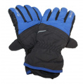 Dětské zimní, lyžařské rukavice - prstové - černo-modré