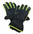 Dětské zimní, lyžařské rukavice - prstové - černo-zelené