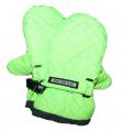 Dětské zimní rukavice - palčáky -prošívané - zelené