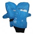 Dětské zimní rukavice - palčáky - sv.modré