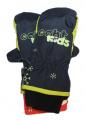 Dětské zimní rukavice - palčáky - modro-žluté