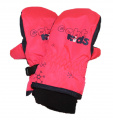 Dětské zimní rukavice - palčáky - červeno-šedé