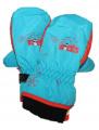 Dětské zimní rukavice - palčáky - tyrkysovo-oranžové