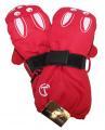 Dětské zimní rukavice - palčáky - červené se zajícem