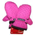 Dětské zimní rukavice - palčáky -prošívané - růžové