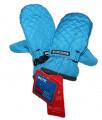 Dětské zimní rukavice - palčáky -prošívané - sv.modré