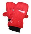 Dětské zimní rukavice - palčáky - červené