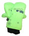 Dětské zimní rukavice - palčáky - zelené 2