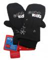 Dětské zimní rukavice - palčáky - černé